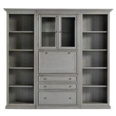 Browse home office furniture and find stylish office decor and furniture today! Shop home office furniture at Ballard Designs. Desk Wall Unit, Wall Units, Dining Room Table Decor, Tuscan Design, Tuscan Style, Mediterranean Home Decor, Mediterranean Recipes, Tuscan House, Secretary Desks