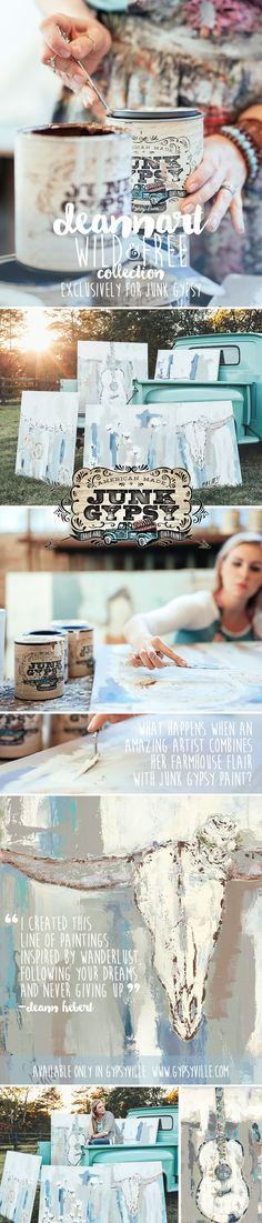 Wild & Free collection. DeannArt for Junk Gypsy with JG paint #junkgypsy {junk gypsy co.}