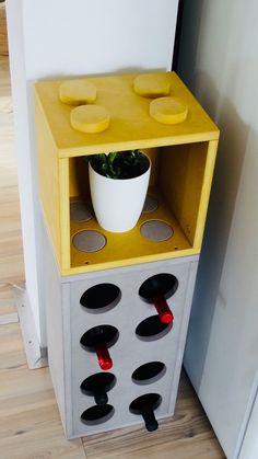 Sono felice di condividere l'ultimo arrivato nel mio negozio #etsy: Cantinetta, porta bottiglie vino, bottle holder, wine rack, libreria, arredo design, in legno MDF, colorato.
