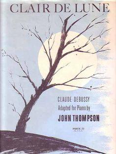 Claire de Lune 1962 Claude Debussy Sheet Music