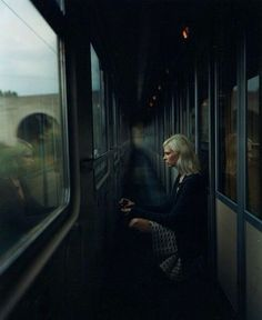 train, dark, and sad Bild