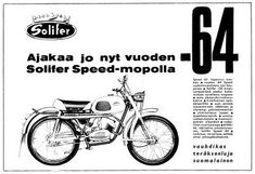 Tämä se on Suomi-klassikko jos mikä! Ajakaa jo nyt vuoden -64 Solifer Speed-mopolla 3-vaihteinen vaihdelaatikko uusi, entistä menevämmän näk...