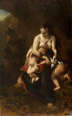 Eugène Delacroix Médée / Peintures XVIe - XXIe siècles / Chefs-d'Œuvre / Collections - Palais des Beaux Arts de Lille