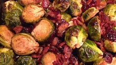 Roasted Brussels Sprouts with Cranberries Recipe | Allrecipes Christmas Cooking, Christmas Recipes, Broccoli Tofu, Christmas Side, Cranberry Recipes, Holiday Dinner, Brussels Sprouts, Roasted Garlic, Brussels Sprout