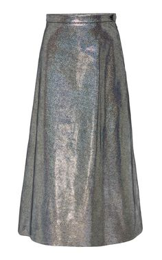Iridescent Leather A Line Skirt by RODARTE for Preorder on Moda Operandi