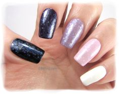 Nail Art by Belegwen: Ombre mani with foil