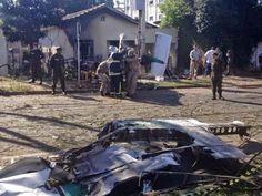 Duas pessoas morrem em queda de avião em Curitiba