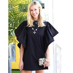 This fun flutter sleeved take on the little black dress is one of our favorites! We love ruffles! Shop this style in-store and online! #tfssi #twofriendsssi #seaisland #stsimons #saintsimons #stsimonsisland #saintsimonsisland #goldenisles #shoplocal #shopgoldenisles #shopsmall #lbd #littleblackdress #elegant #fun #trend #ruffles #style #cute #classic #dressy #pursuepretty #thatsdarling #prettycreativestyle #socute #black #dress #happy #love #need