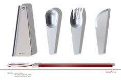 Pocket cutlery - 'ex.table' by funck Barbara, Germany