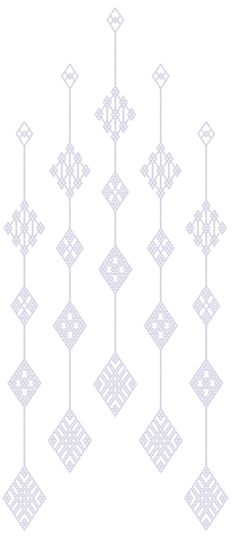 Japanese Kogin embroidery pattern  つるしこぎん