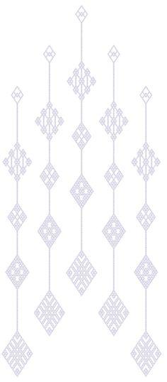 Japanese Kogin embroidery pattern  つるしこぎん