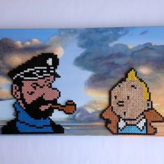 Tintin and Captain Haddock hama perler beads by zita_falk