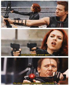 We need a Hawkeye / Black Widow movie.
