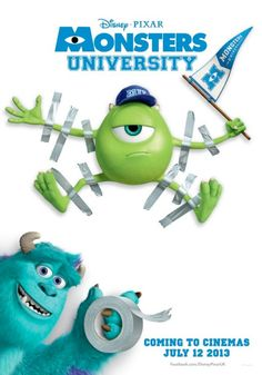 July 14th Monsters University We were a bit late to the party but oh so glad we came. The story line was incredible and there were moments when I sincerely thought that they had used live backgrounds  Wish they could make more and more and more