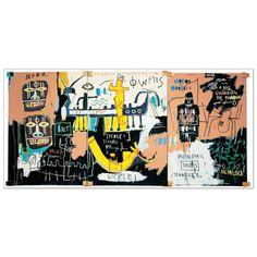 """""""BASQUIAT - El Gran Espectaculo (History of Black People)""""  Misure: 138x65 cm #artprints #interior #design #Nero #Giallo #Astratto #JeanMichel Scopri Descrizione e Prezzo ---> http://www.artopweb.com/categorie/arte-moderna/EC21607"""