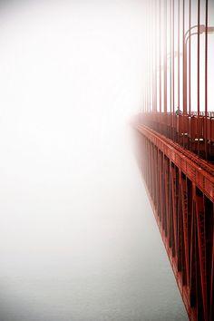 c1tylight5:  Golden Gate in Fog(by pixelmepretty22)          via PowerTumblr, the HD Tumblr Photo App for iOS.