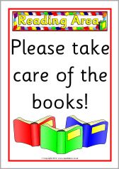 Reading Area posters (SB8819) - SparkleBox
