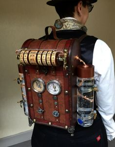I made this for this year's Steampunk World's Fair which just passed in May. I also made a Steampunk rifle which I will be writing about in a separate post. So I got the idea for this backpack a wh… Stylish Fashinable walking sticks canes for gentleman Viktorianischer Steampunk, Design Steampunk, Steampunk Weapons, Steampunk Clothing, Steampunk Outfits, Steampunk Necklace, Steampunk Drawing, Steampunk Machines, Renaissance Clothing
