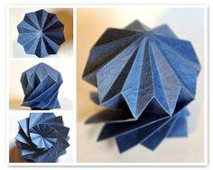 Star Dome 11 Designer: Chris Palmer Diagram: Polypouches Collection 2 cd by Chris Palmer - Star Dome pdf p. 11 Unit: 1 decagon Paper: Takeo Iwahada