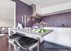 Finding pictures of purple kitchens? Then get kitchen interior designing ideas for purple color scheme. Get purple kitchen designs, ideas and photos.