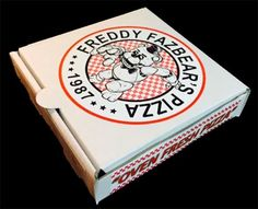 Five Nights At Freddy's Pizza Favor Box - Birthday Party