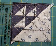 Here's a tutorial for any quilter...but specifically for those taking my Farmer's Wife Quilt Revival Classes.       Before trimming a Half ...