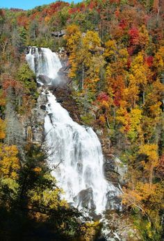 Whitewater Falls, 411ft High, Cashiers, NC
