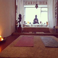 My yoga meditation room for now!