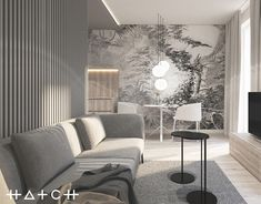 HATCH STUDIO is an interior design office based in Lodz, Poland. Founded by the Technical University of Lodz graduate, specializes in both private and public interiors. Apartment Interior Design, Interior Architecture, Living Spaces, Studio, House, Behance, Inspiration, Furniture, Home Decor