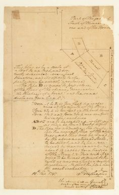 """Autograph Manuscript Architectural Plan, Annotated & Signed. Washington, George. """"Part of the gen[eral] stack of Chimn[ey] one end of the House."""" N.p., September 15, 1797. #FreemansAuction"""
