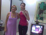 Sônia (culturalista do Teatro Henriqueta Brieba do TTC) e a jornalista Flávia Almas — com Flávia Almas.