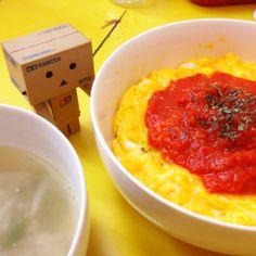 男子メシ@オムライス丼! by powerangix at 2014-4-14  追加写真、詳細、小ネタをブログ記事にしてます(๑′ᴗ‵๑) 気になる方はチェックしてみて下さい♪   男子メシ丼の真骨頂!丼で食べるオムライス丼【ある日のカフェ飯:013】   a+cafe(あとカフェ) http://atcafe.dualing-am.com/cafemeshi/omerice_donburi/