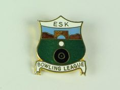 Lawn Bowls Club Enamel Badge, Esk Bowling Club Enamel Badge