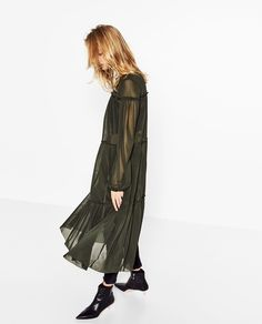 DRESS WITH TULLE FRILLS