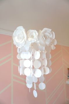 Handmade Paper Flower Mobile - so pretty and delicate!