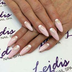 SPN: UV LAQ 628 Golden eye, 584 Serene. Nails by: Martyna, Lejdis nail SPA #spnnails #uvlaq #uvgel #paznokcie #nails