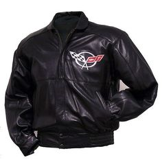 C5 Corvette Hand Inlay Lambskin Bomber Jacket