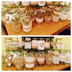 Rustic jam jars so easy to make and looked lovely.