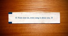 this isn't happiness. : Fortune Cookie Message