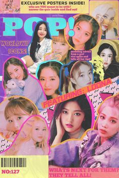 loona pop shared by winwin af on We Heart It Cute Poster, Poster Wall, Poster Prints, Retro Graphic Design, Graphic Design Posters, Kpop Posters, Retro Posters, Movie Posters, Popteen