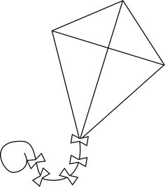 Δωρεάν Pattern Kite- great for spring poetry, contractions