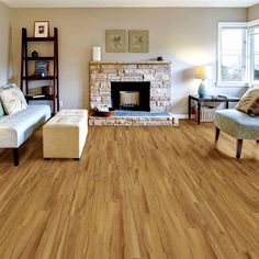 """Added this Allure Vinyl Plank DIY Flooring to my Wishlist - It's """"Northern Hewn Beech"""". Available exclusively at The Home Depot. Click the Pic to Shop it! #AllureFlooring"""