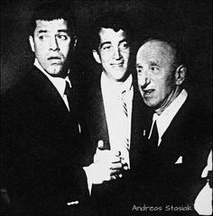 Jerry and Dean with Jimmy Durante