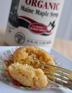 Maple syrup pancake muffins.