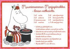 4760519 1-os Muumi reseptikortti Tove Jansson, Finnish Recipes, Baking With Kids, Sweet Pie, Orange Crush, No Bake Desserts, Finland, Food To Make, Food Porn