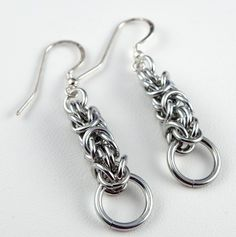 Chainmaille Earrings  Lightweight Dangle by CreationsbyUli on Etsy
