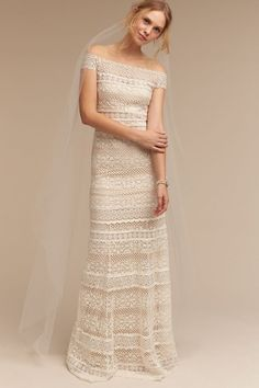 bd6f49afdfa7 Tadashi Shoji Eira Gown wedding dress currently for sale at off retail.