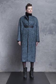 Przhonskaya (Ukraine) turquoise wool coat, bespoke coat, wool with body, perfectly placed belt.