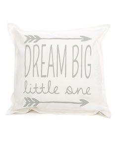 Twelve Timbers White & Light Gray Dream Big Throw Pillow