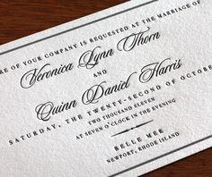 bellemer letterpress wedding invitation - elegant invitation design